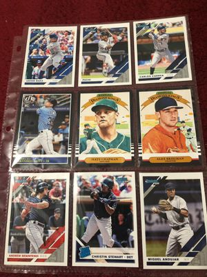Lot # 4 2019 donruss baseball cards lot with stars variations and rookies all 9 for $2 for Sale in Beltsville, MD
