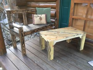 Pallet bench and table for Sale in Elk Rapids, MI