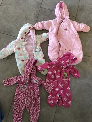 3 month baby girl coat bunting lot for Sale in Montgomery, PA