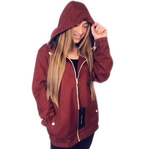 NWT CRAFT + FLOW cranberry red full zip up hooded jacket with pockets medium unisex for Sale in Fenton, MO