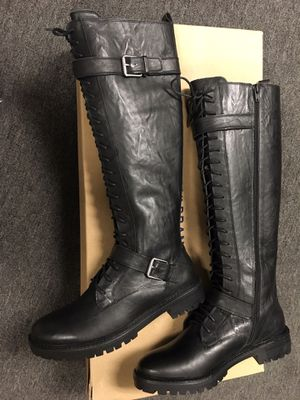 Lucky brand long leather boots size 7 1/2 for Sale in Ontario, CA