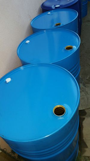55 gallon metal drums $15 each food grade no chemical for Sale in Rosemead, CA