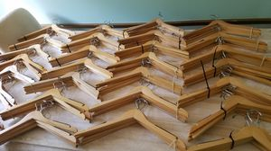 Heavy Duty Wood Hangers 220 Available all for $100 or 10 for $5 for Sale in Minneapolis, MN