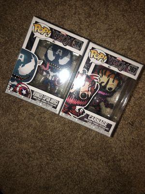 Venom captain America and carnage marvel pops for Sale in Las Vegas, NV