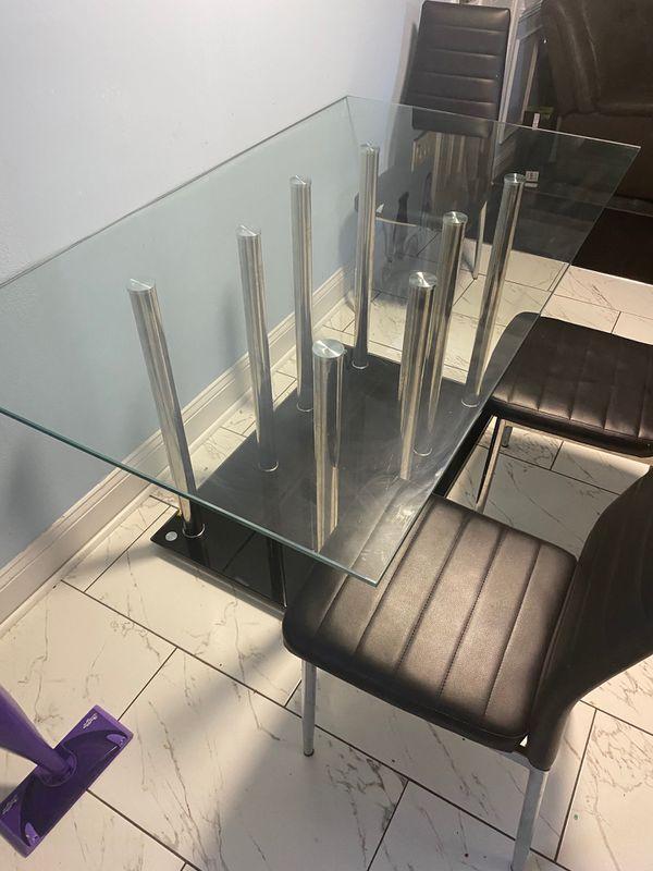 Kitchen glass table set