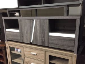Tv Stand, Distressed Grey & White, 161822 for Sale in Santa Fe Springs, CA