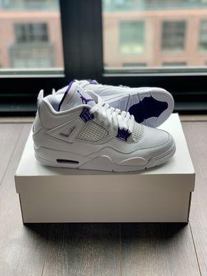 Nike Air Jordan 4 Retro Purple Metallic Size 9.5 for Sale in Washington, DC