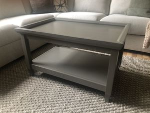 Gray solid wood coffee table for Sale in Chicago, IL