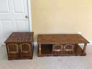 Solid wood coffee table and end table set for Sale in Ashburn, VA