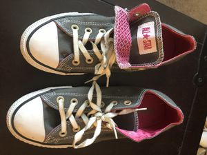 Converse All Stars gray with pink size 9 for Sale in Denver, CO
