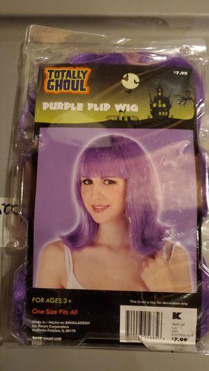 New Adult Purple Wig for Sale in Walkerton, IN
