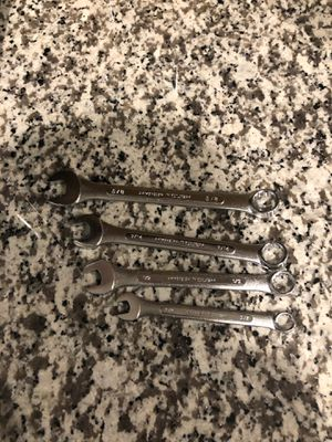 Wrench 5/8 - 9/16 - 1/2 - 3/8 for Sale in Las Vegas, NV