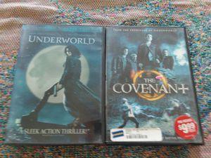 Underword & The Covenant DVDs Set for Sale in Menifee, CA
