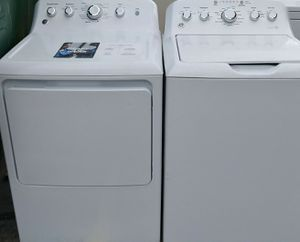 BEAUTIFUL GE PROFILE SUPER CAPACITY WASHER DRYER SET WITH STAINLESS STEEL TUB SELLS OVER $1200 for Sale in West Palm Beach, FL