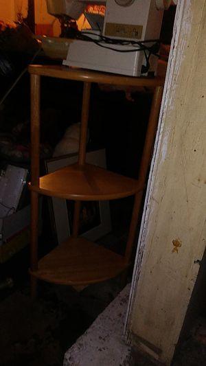 3 shelf oak corner unit for Sale in Portland, OR