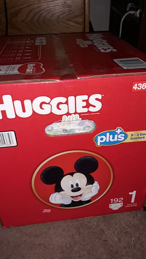 Huggies diapers, unopened 192 count, size 1 for Sale in Pittsburg, CA