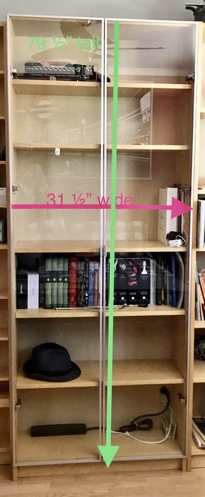 Book case with 2 glass doors by Ikea for Sale in Santa Susana, CA