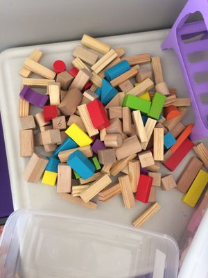 Wooden blocks 127 pieces for Sale in Pasco, WA
