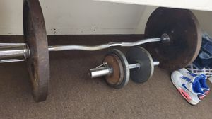 OLYMPIC CURL BAR AND DUMBELL for Sale in Austin, TX
