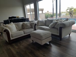 Flexsteel Sofa, Love Seat, and Ottoman for Sale in San Diego, CA