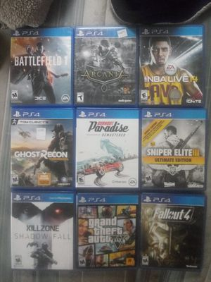 Ps4 games $10 each for Sale in Buckhannon, WV