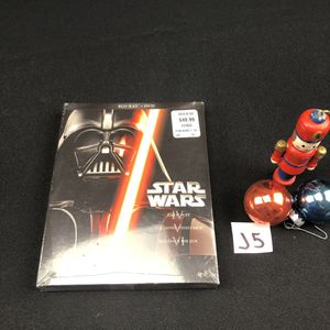 Brand new Star Wars trilogy Blu-ray and DVD back for Sale in Montgomery, IL