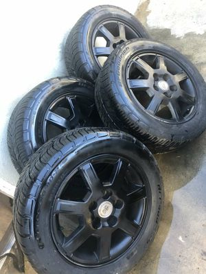 Black rims with good tires for Sale in San Diego, CA