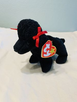 """""""GiGi"""" Poodle Dog with Red Ribbon TY Beanie Baby 1997 for Sale in Austin, TX"""