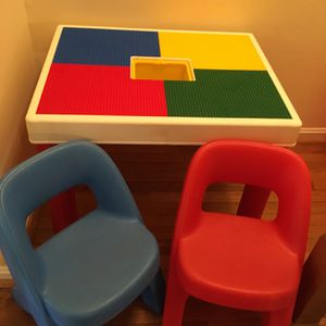 Kids Play Table For Lego Style Brick Toys for Sale in Falls Church, VA