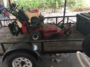 Toro proline 36 walk behind lawn mower, has ride along hooked up for Sale in Riverview, FL
