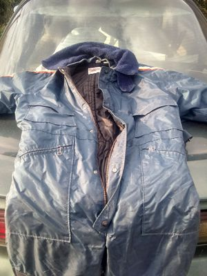 One piece snowmobile,mechanics suit,clean,extra large size. Blizardproof maker. for Sale in Brown City, MI