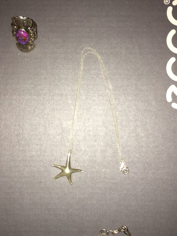 Tiffany and Company starfish silver necklace