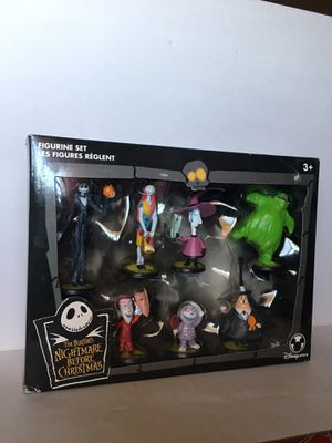 Disney Store NIGHTMARE BEFORE CHRISTMAS FIGURINES 7 PC SET for Sale in Los Angeles, CA