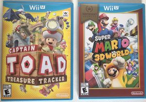 Super Mario 3D World and Captain Toad for Wii U for Sale in Pembroke Pines, FL