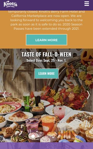 Taste of FALL-O-WEEN Knotts berry farm 2 adult tickets for Sale in City of Industry, CA