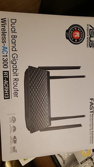 Asus Router . DUAL BAND GIGABIT Router AC1300 for Sale in El Paso, TX