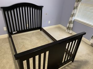 Bed Frame with mattress foundation full size for Sale in Durham, NC