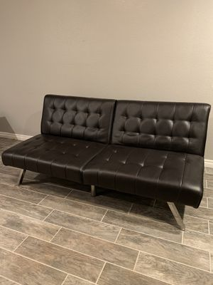 Black Leather Futon ($150.00) for Sale in Las Vegas, NV