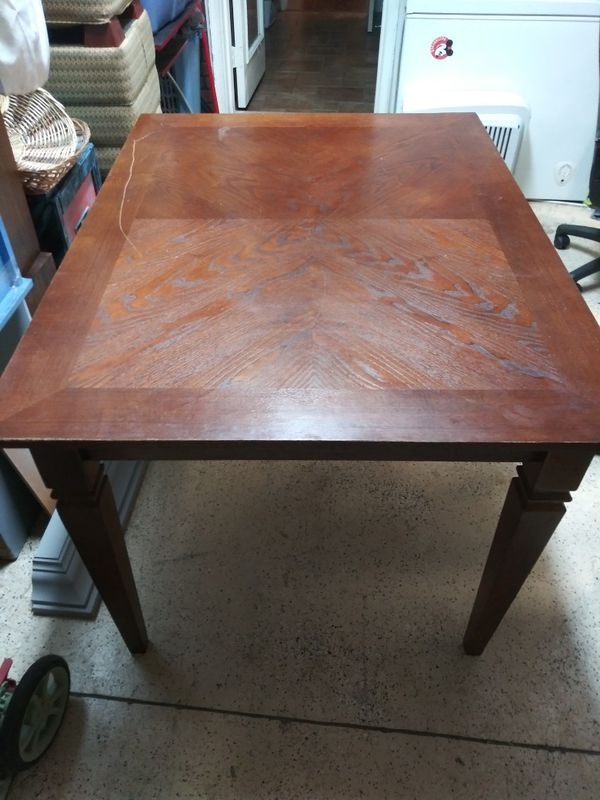 Wooden table no chairs