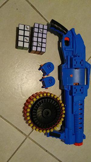Nerf gun,rubik cube's for Sale in Stuart, FL