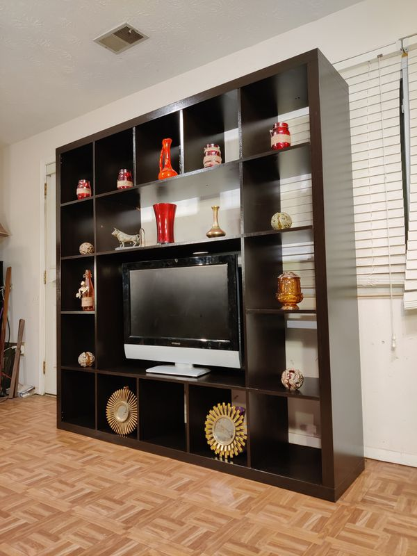 """Nice TV stand/entertainment center with many shelves in good condition, we can take it part for easy pickup, driveway pickup. L72""""*H72"""""""