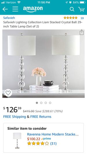 Table lights(set of 2) for Sale in Brentwood, CA