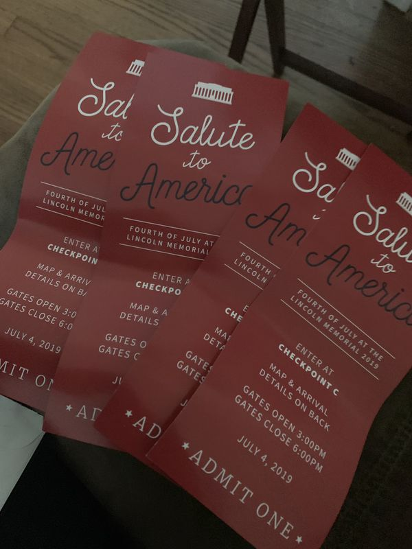 Solute to America July 4th Tix @ Lincoln Memorial