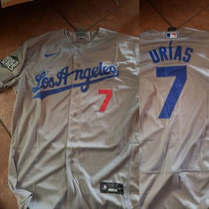 Dodgers grey urias World Series patch jersey size medium to 3xl stitched firm price pick up only for Sale in Moreno Valley, CA