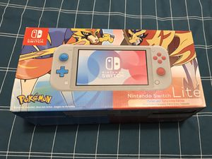 Nintendo Switch Lite Zacian and Zamazenta Pokemon Sword Shield Edition for Sale in North Bergen, NJ