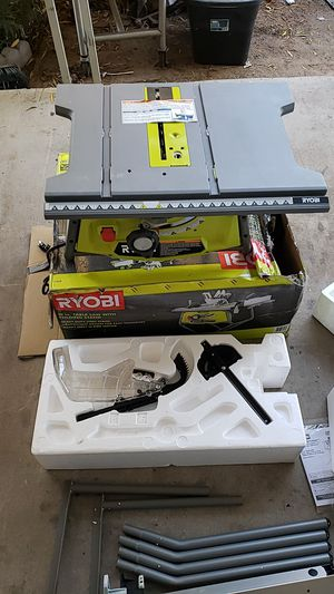 Ryobi 10 in table saw with folding stand for Sale in Tempe, AZ
