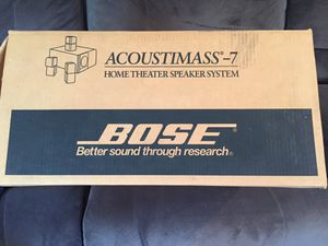 Bose acoustimass 7 home theater sound system with JVC receiver for Sale in Butler, PA