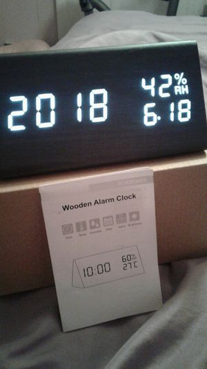 Bran New Wooden Alarm clock for Sale in Perris, CA