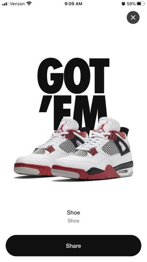 Air Jordan 4 Fire Red 2020 M 10.5 for Sale in Downey, CA