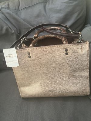 Coach Rose Gold Leather Rogue with snakeskin for Sale in Bellevue, WA
